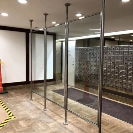 glass steel barrier